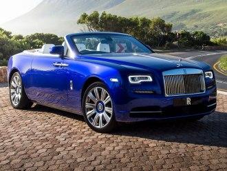 Rent Rolls Royce Dawn Dark Blue