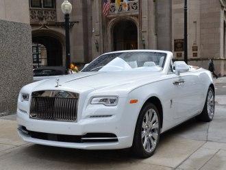 Rent Rolls Royce Dawn White