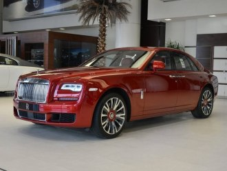 Rent Rolls Royce Ghost Red
