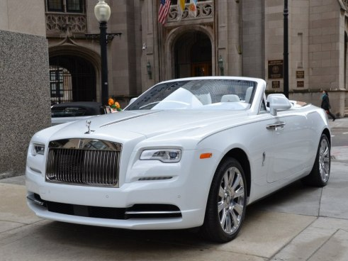 Rent Rolls Royce Dawn White