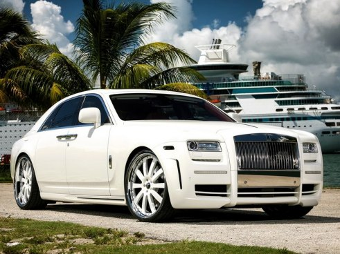Rent Rolls Royce Ghost White