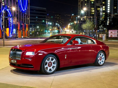 Rent Rolls Royce Wraith Red